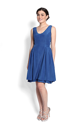 dk1404 sleeveless scoop reversible cocktail dress