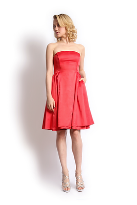 dk1301P strapless reversible cocktail dress