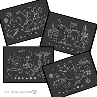 Four Seasons- postikortit