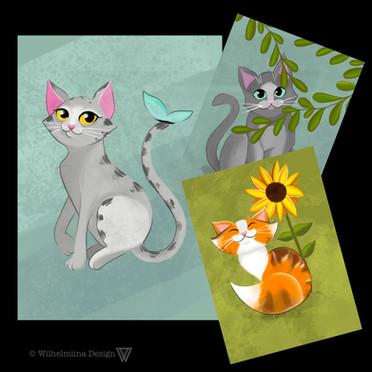 Kattikullat -postikortit
