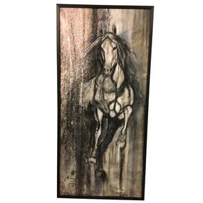 At resmine siyah çerçeve