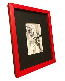 Fotoğraf çerçevesi kırmızı ahşap 10x