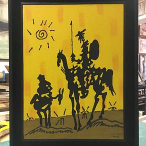 Tuval çerçevesi Don Quixote