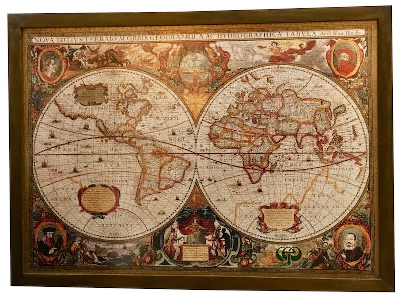 Harita puzzle için çerçeve
