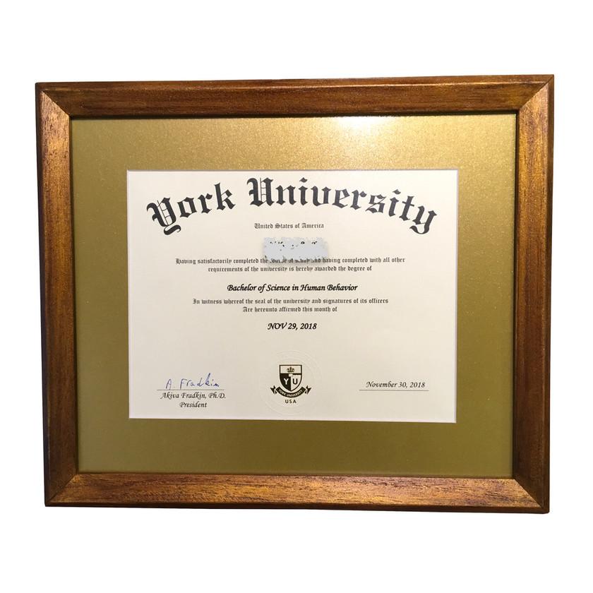 Altın paspartulu diploma çerçevesi