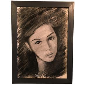 Portreye düz çerçeve