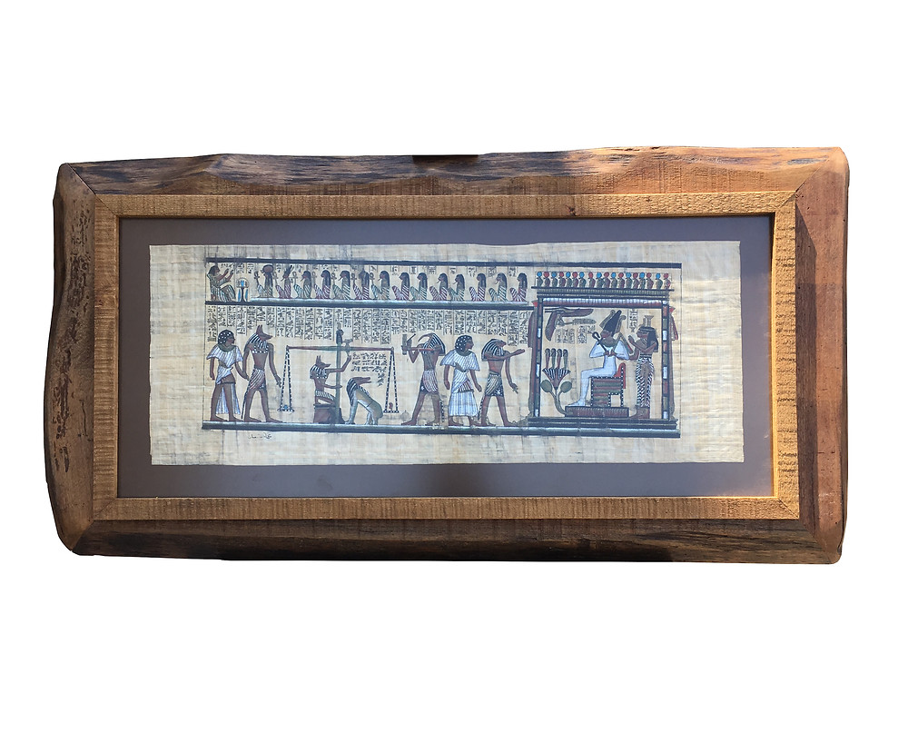 papirüse özel el yapımı ahşap çerçeve