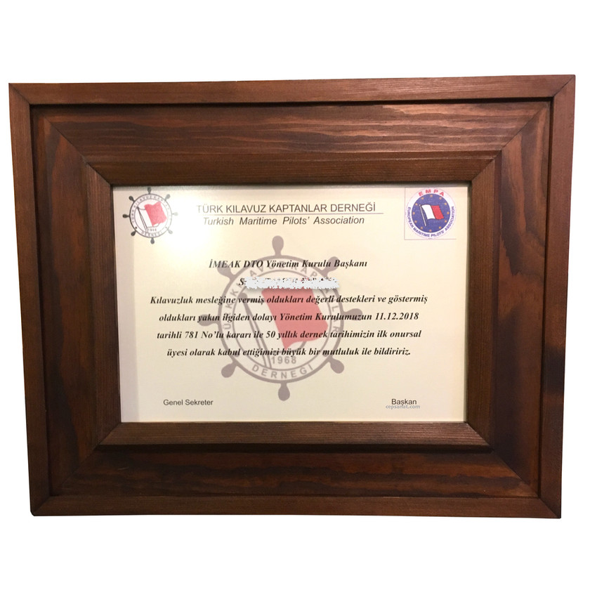 sertifika için çerçeve