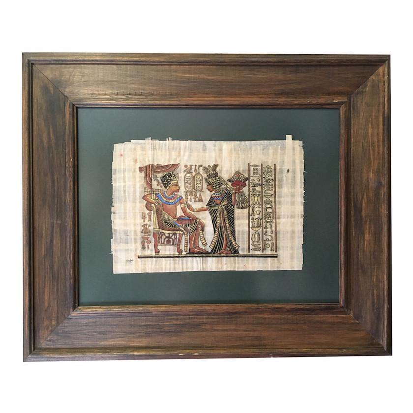 Vintage papirüs çerçevesi