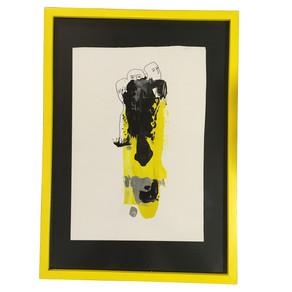 Desene sarı çerçeve
