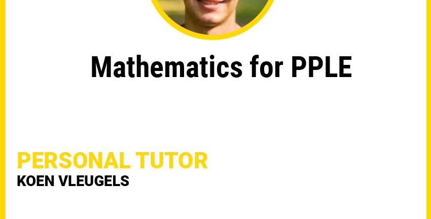 Mathematics for PPLE