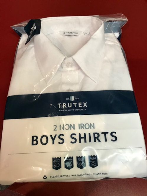 Trutex Classic Fit white long sleeve shirt - 2 Pack