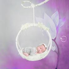 NEWBORN fotografia de recién nacido La Luna de Neptuno