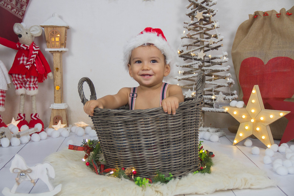 Foto navideña infantil