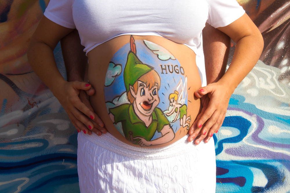 Belly Painting Las Palmas de Gran Canaria. Disney. Peter Pan