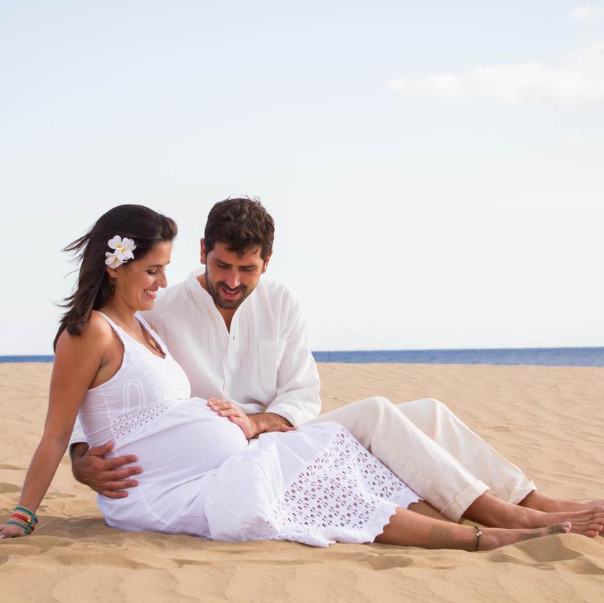 Sesiones de embarazo Las Palmas de Gran Canaria. Fotografía.