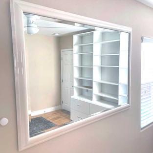 White Lacquer Mirror