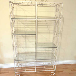 White Wrought Iron Stand/Shelves