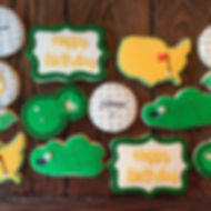 45th birthday cookies for a golf lover!