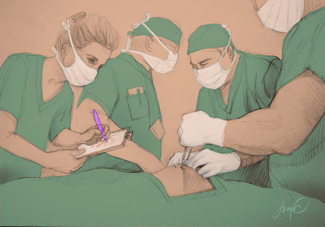 Artist in the Operating Room