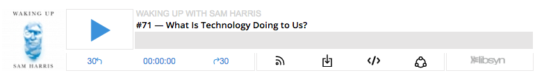 Waking up Podcast with Sam Harris.  What is Technology Doing to Us?