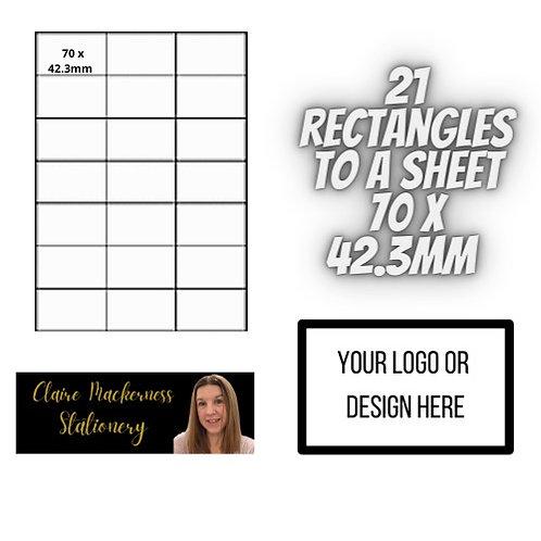 Rectangular Stickers 21 to a Sheet