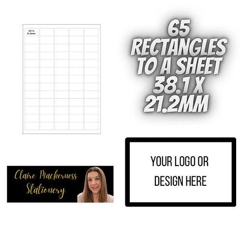 Rectangular Stickers 65 to a Sheet