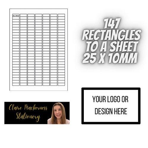Rectangular Stickers 147 to a Sheet