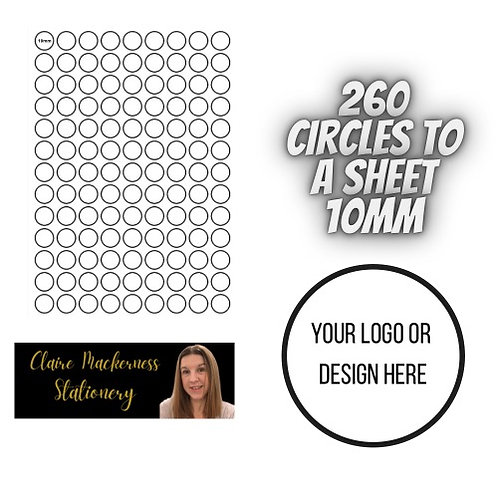 Circular Stickers 260 To A Sheet