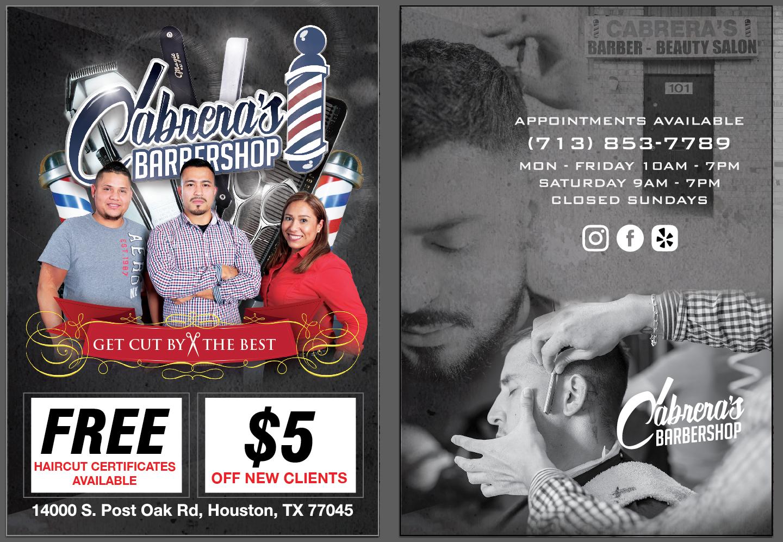 Cabrera'S Barbershop Flyer