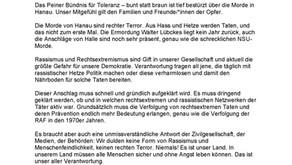 Pressemitteilung Terrorakt Hanau