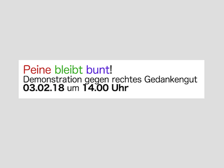 PEINE BLEIBT BUNT!