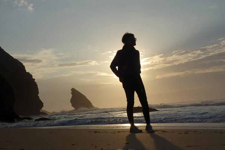Sunset à la plage d'Adraga