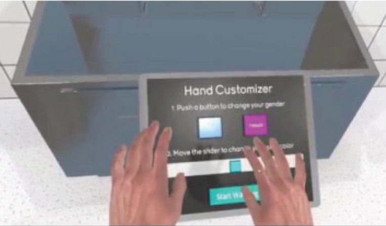 VR Hospital Hand Washing Training