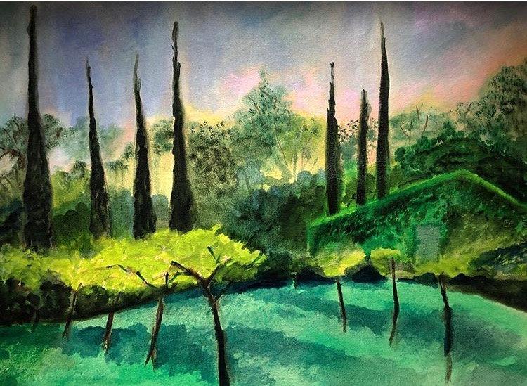 'Mouains Sartoux' Oil on canvas 120x86cm