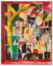 Red Window 2017 210cm x 170cm mixed medi