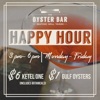 Oyster Bar Happy Hour