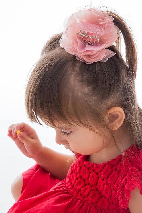 Diamond Crown Bear Flower Clip