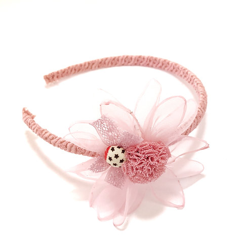 Lace Pom Pom Flower Headband