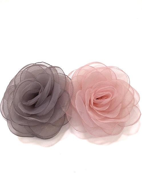 Organza Camellia Clip