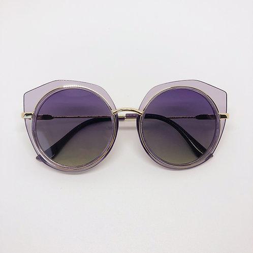 Purple retro look Kids sunglasses with cutout edgePolarised&UV protection
