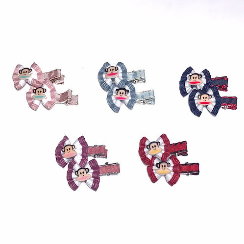 Monkey Bow Clip Pack