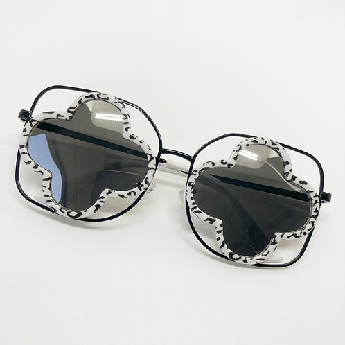 Black & White Cutout Hollow Kids Sunglasses Polarised&UV protection