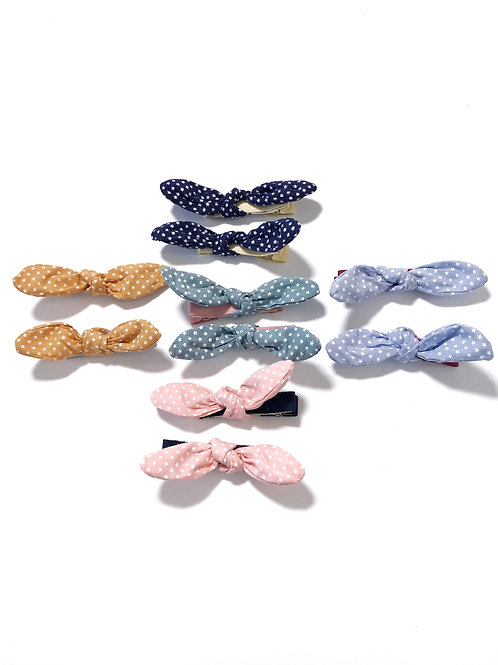 Star Fabric Bow Clip Set