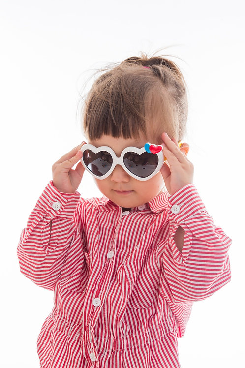 Heart Shaped Bendable Kids Sunglasses Polarised&UV protection