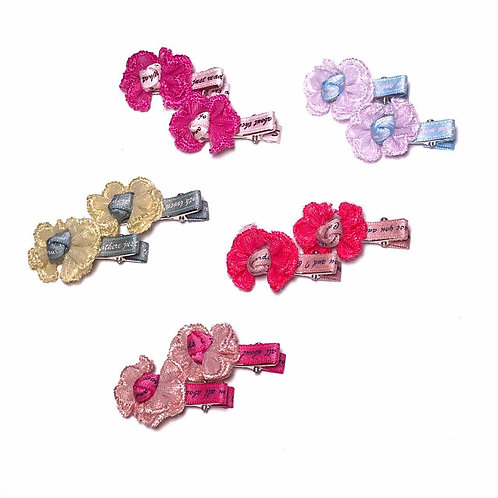 Lace Bow Clip Pack