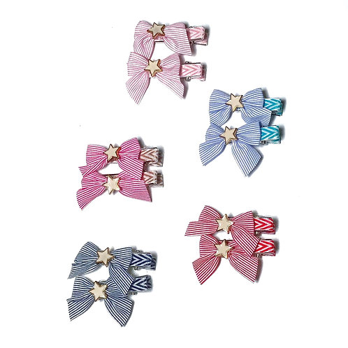 Star Reversible Bow Clip Pack