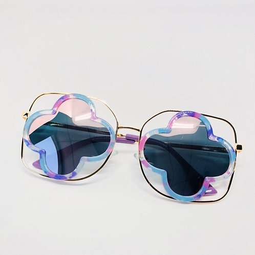 Blue & Pink Cutout Hollow Kids Sunglasses Polarised&UV protection