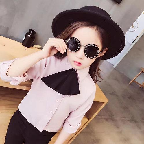 Black & White Retro Style Fashion Kids Sunglasses Polarised&UV protection