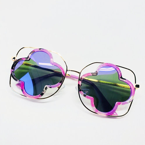 Pink Cutout Hollow Kids Sunglasses Polarised& UV protection